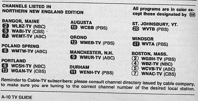 Northern New England Edition September 9 1972 Tv Guide New England Edition