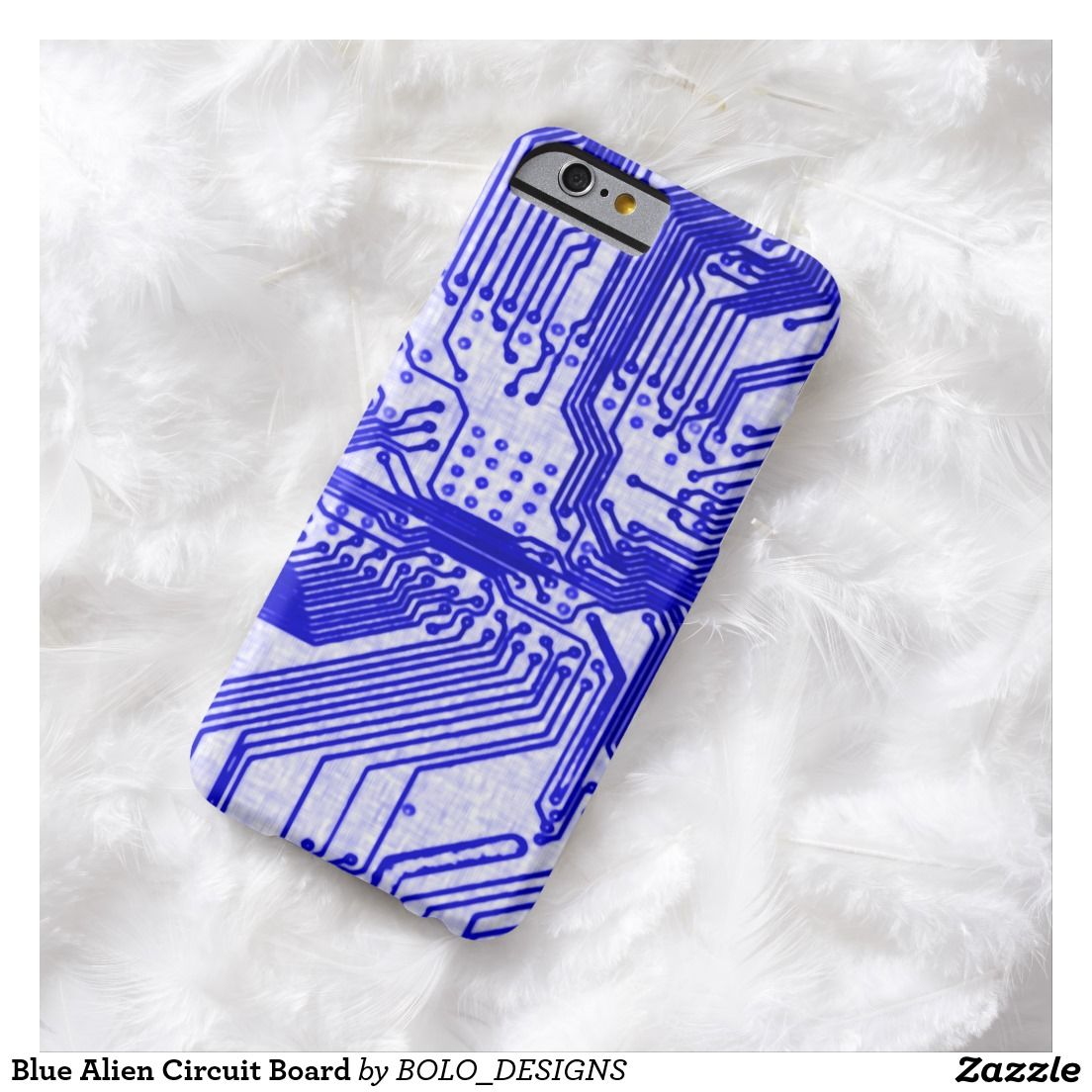 Blue Alien Circuit Board Barely There Iphone 6 Case Cell Phone