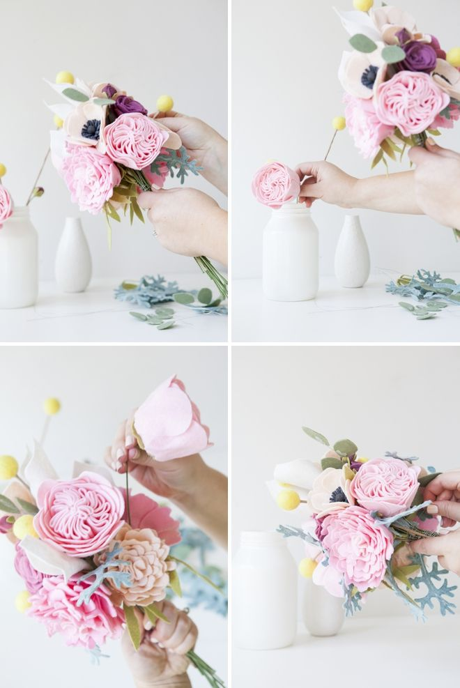 This Wedding Bouquet Is Made Entirely Of Felt Flowers! | Pinterest ...