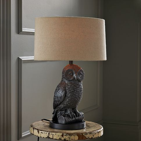 I would love to have mis-matched lamps in the living room.  This would be a great start to a quirky collection.