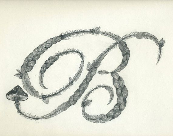 Letter B Pencil Drawing Print By Lisacongdon On Etsy 3400 Typography