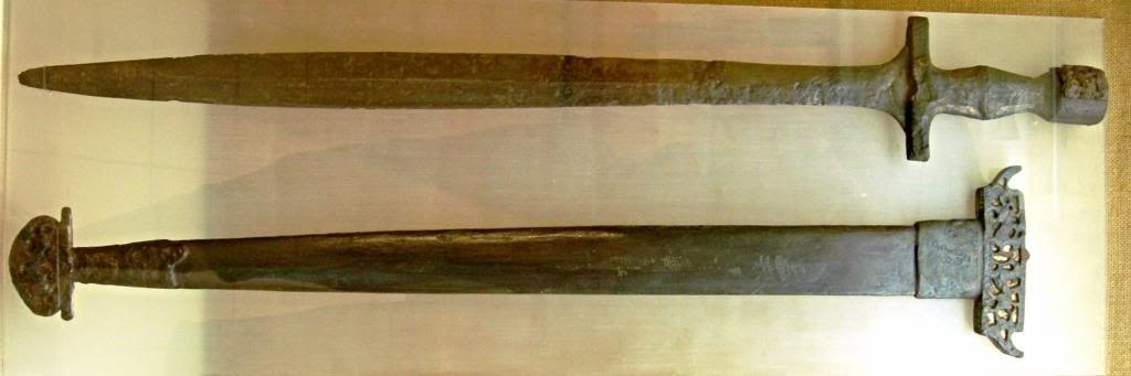 Ancient Greek bronze xiphos of Italian provenance. This ... Bronze Greek Xiphos Sword For Sale