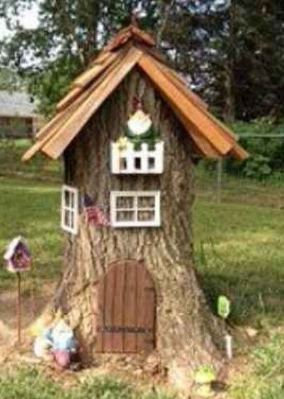 Gnome Tree Stump Home: Fairy House From A Tree Stump!