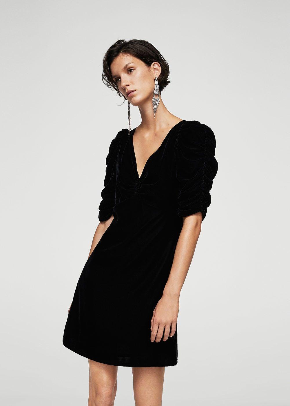 Ruched velvet dress - Women | Pinterest