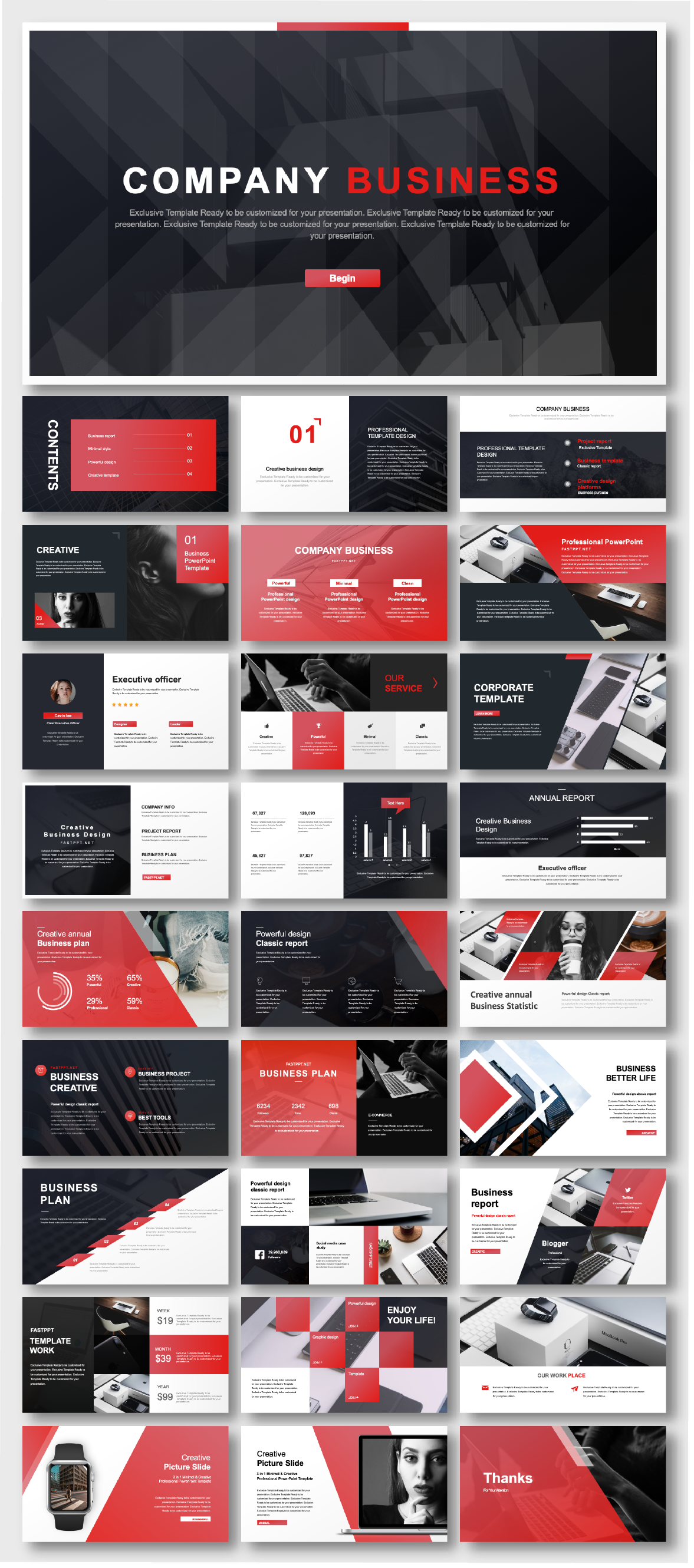 Black Red Business Report Presentation Template Original And High Quality Powerpoint Templates Powerpoint Background Design Powerpoint Presentation Design Powerpoint Design Templates