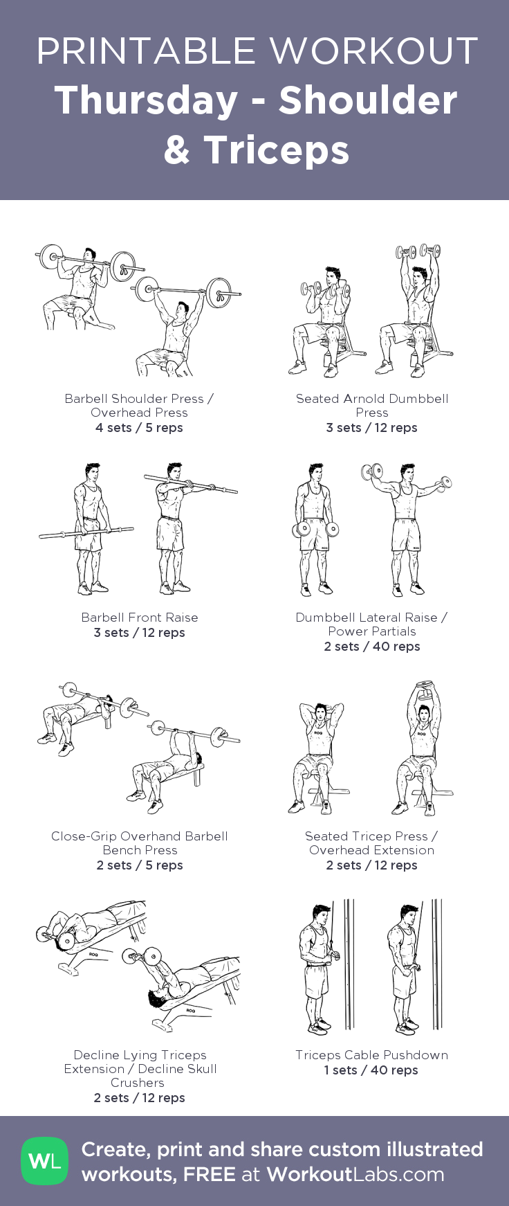 Thursday - Shoulder & Triceps: my visual workout created ...