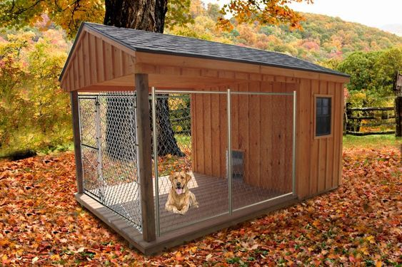 Custom Dog House Plans   Custom Dog House Plans New 8 X 14 Dog Kennel Inside Is Insulated Can