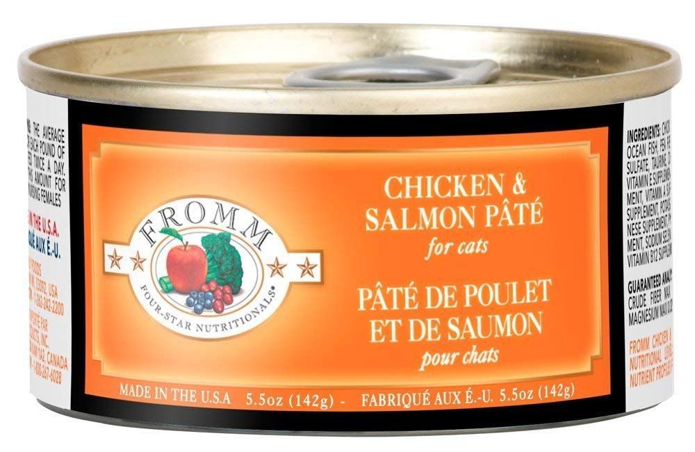 Fromm chicken and salmon pate 55oz case of 12 to view