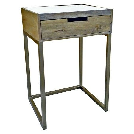 Marble U0026 Gold One Drawer Accent Table   Threshold™ : Target