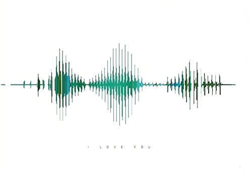 The Perfect I Love You Visible Love Gift Sound Wave Art Fathers Day Present Wart Art A4 Unframed Anniversary Fathers Day Presents Love Gifts Soundwave Art
