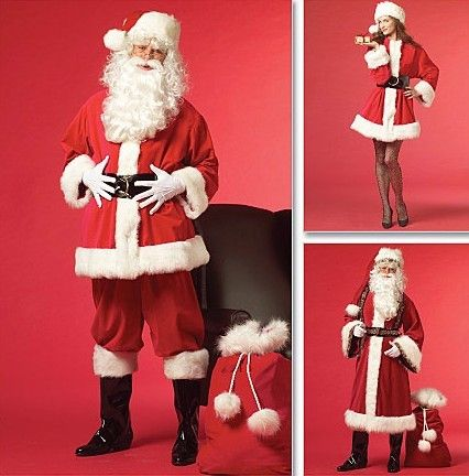5342479375 SANTA CLAUS Costume Pattern - Mrs Claus Father Christmas - Toy Bag ...