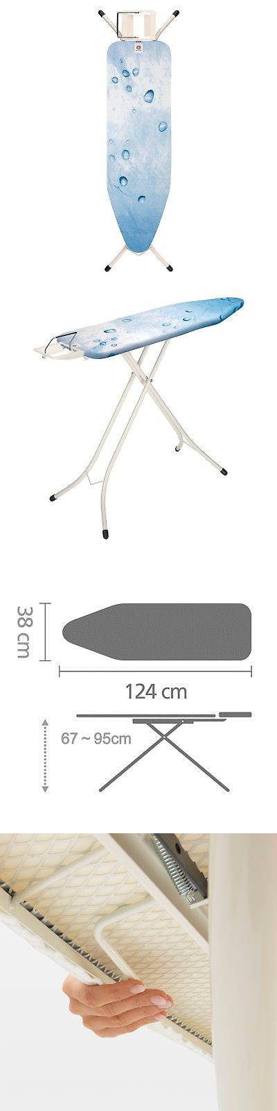 ironing board with steam iron rest size b standard ecru cover