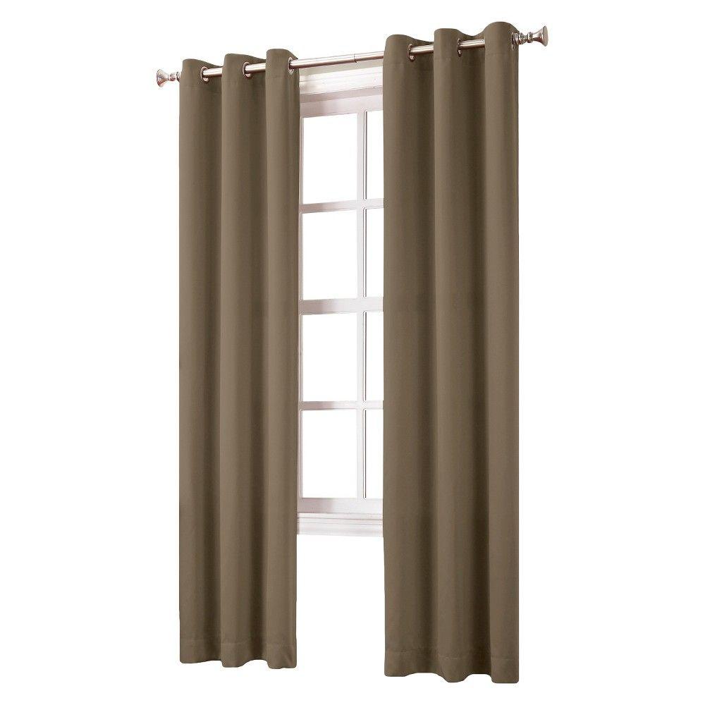 Kenneth Blackout Energy Efficient Grommet Curtain Panel Barley 40 X84 Sun Zero Brown Grommet Curtains Panel Curtains Curtains