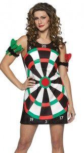 Gli adulti Dart Board GIOCHI DI SPORT Costume Costume Vestito
