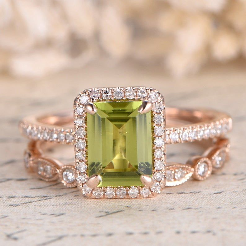 31++ Peridot wedding ring sets information