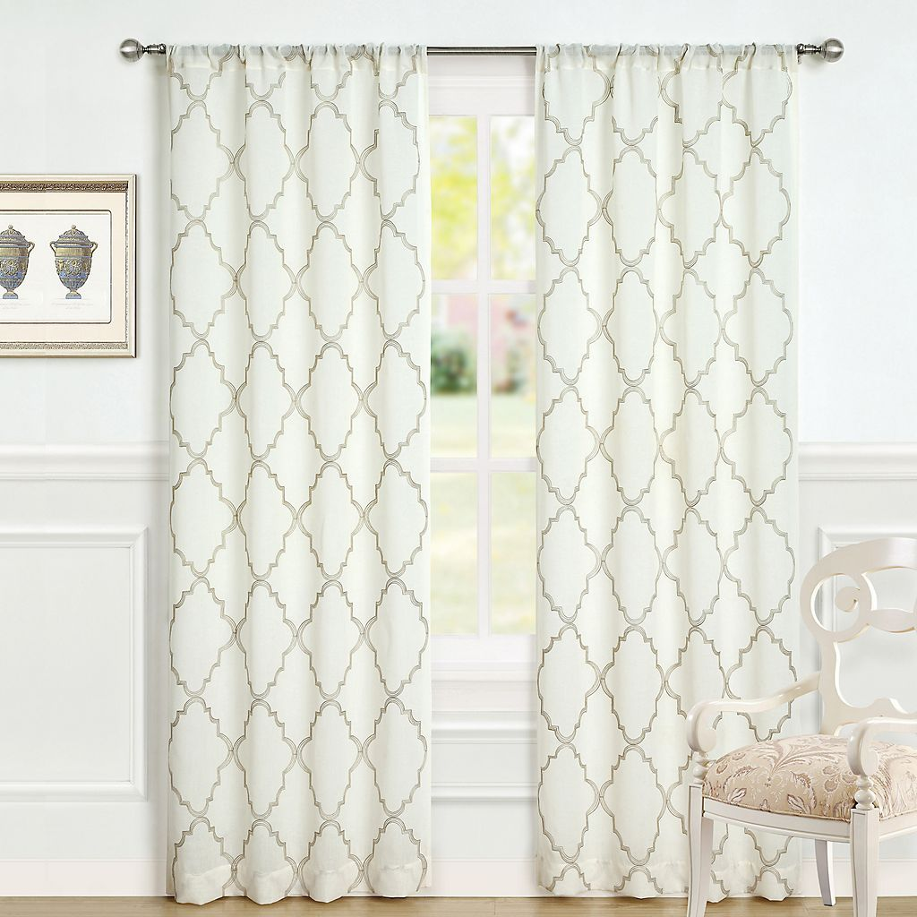 Laura Ashley 2 Pack Lifestyles Windsor Window Curtains Kohls