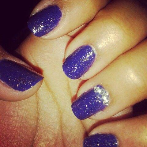 #Purple#Glitter #Nails