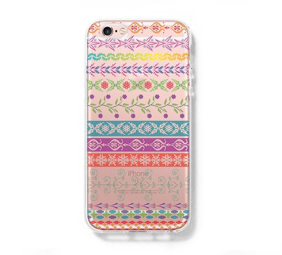 Native Floral Pattern iPhone 6 Case iPhone 6+ SE Case Galaxy S6 Edge Clear Hard Case C170