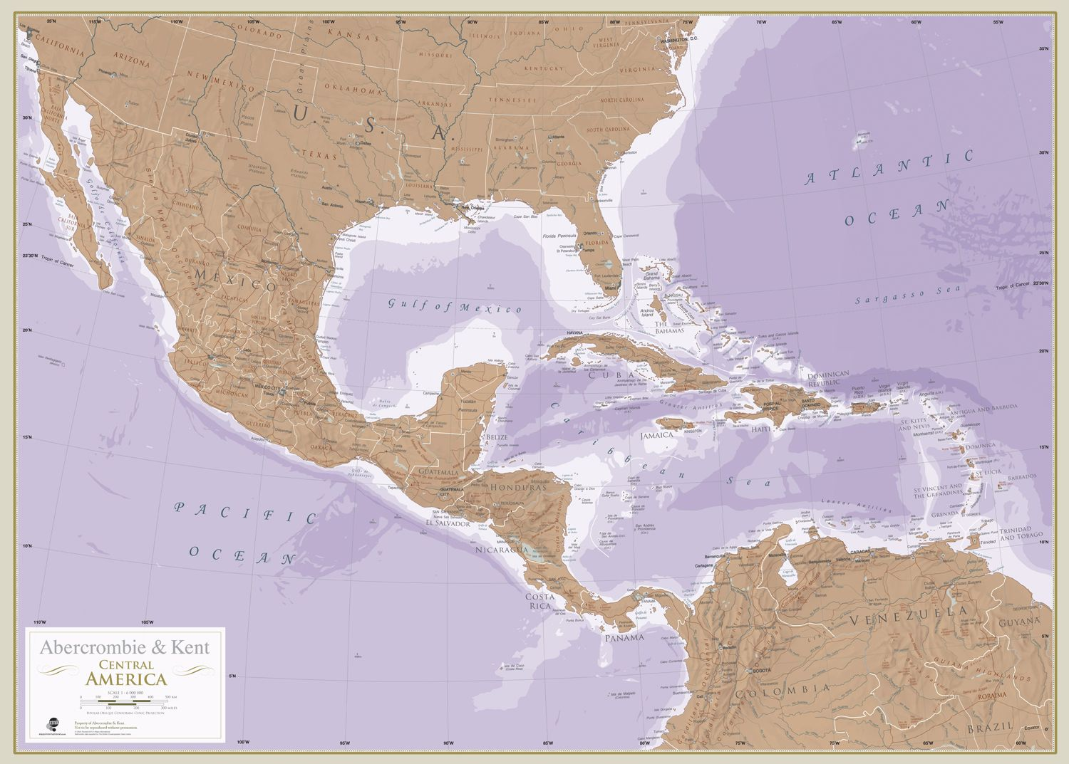 Central America Maps are for explorers dreamers