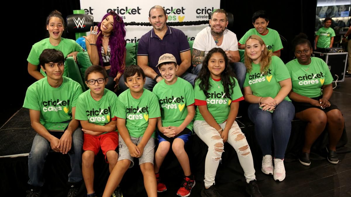 John cena sasha banks and the hardys stop by the barclays center john cena sasha banks and the hardys stop by the barclays center for a special meet greet presented by cricket wireless sasha banks pinterest kristyandbryce Choice Image