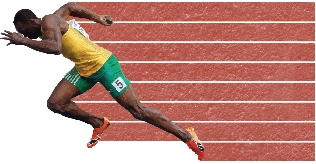 Every Country S Fastest Man In One Race Fastest Man Man Racing