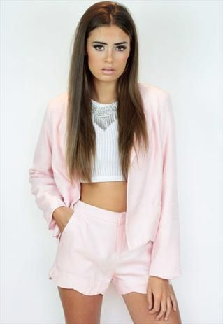 c64c977b90 Blazer Shorts Co-ord Coordinate Matching Set Two Piece | Things to ...