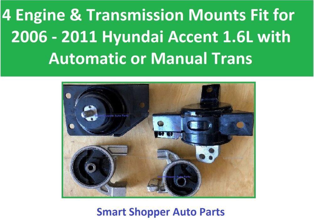 4 Engine & Transmission Mounts Fit for 2006 2007 2008