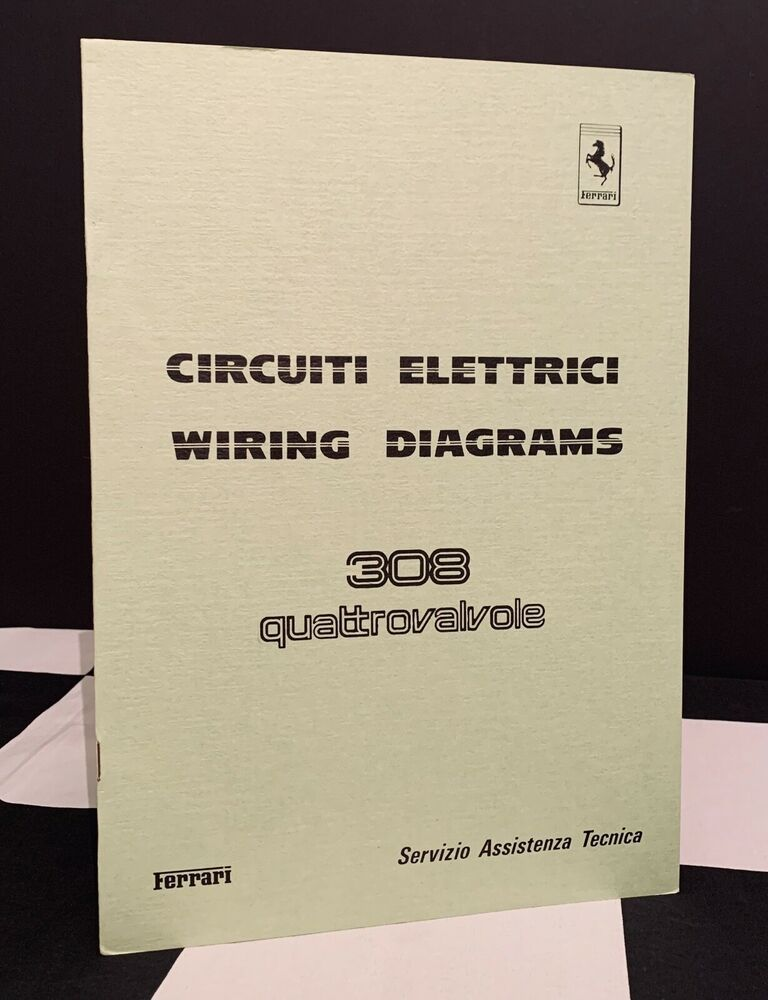 1984 Ferrari 308 Quattrovalvole Wiring Diagrams Circuiti Electric Owners Manual In 2020 Owners Manuals Brochure Maranello