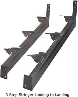 Best Steel Stair Stringers Landing 10 Step Metal Stairs 400 x 300