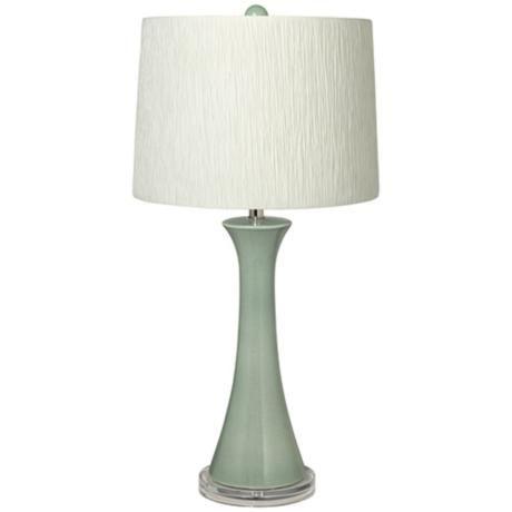 Seafoam green lamp