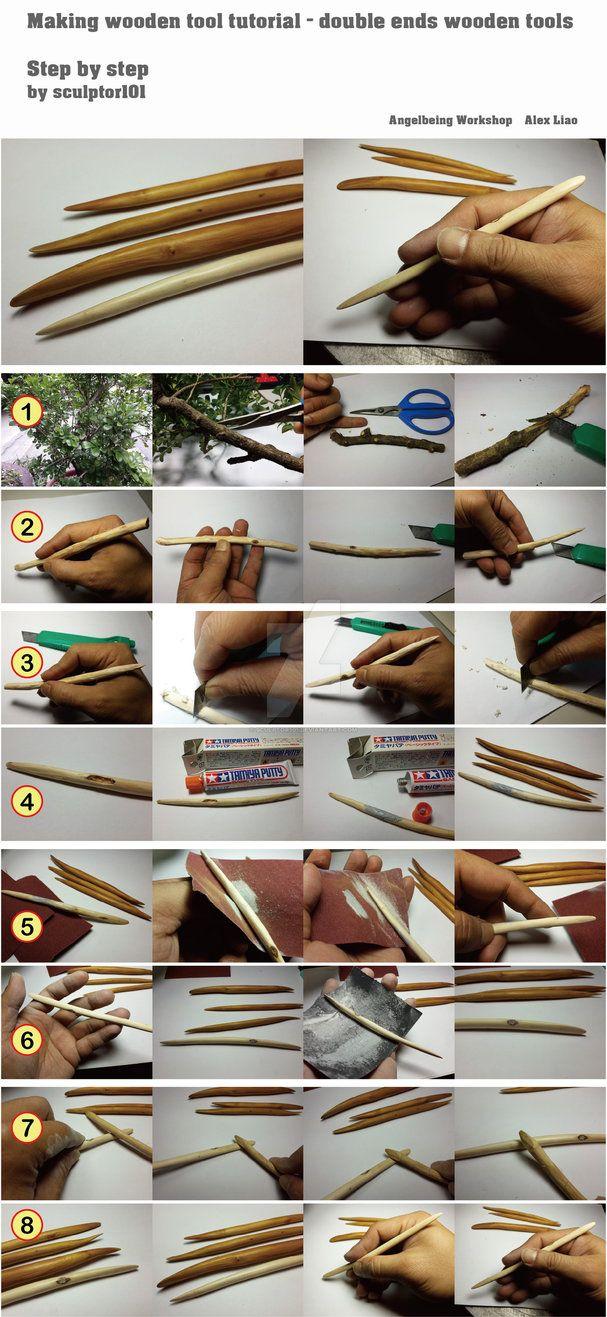 Making wooden tool tutorial by sculptor101 on DeviantArt