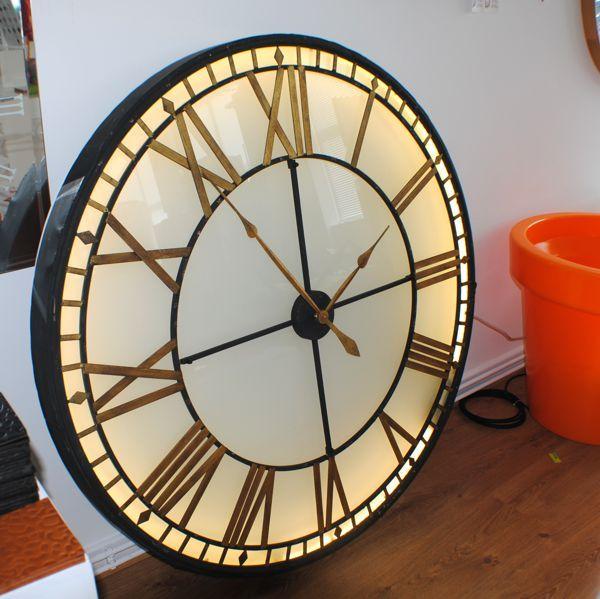 BigExtraLarge Illuminated Light Big Skeleton Vintage Clock UK