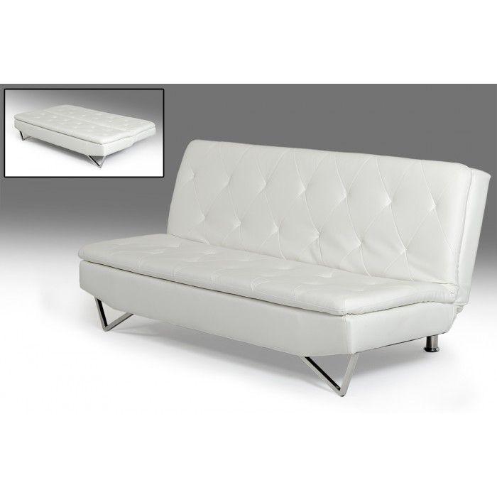 Darlow Modern White Leatherette Sofa Bed Contemporary Fabric Sofa Leather Sofa Bed Modern Leather Sofa