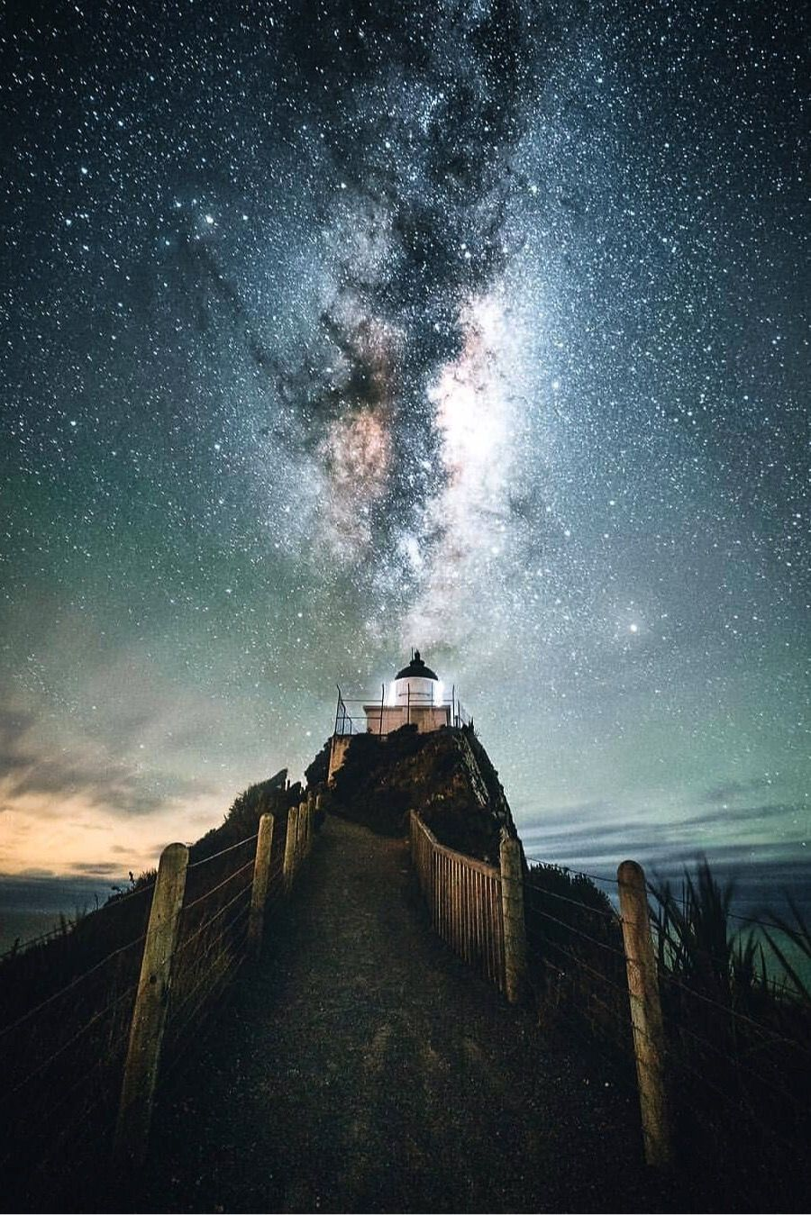 #Magical lighthouse at night. ~ETS | Milky way photography ...