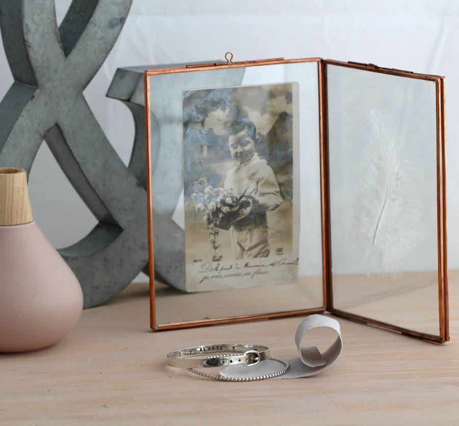Large Vintage Style Copper Photo Frame | Copper photo frame ...