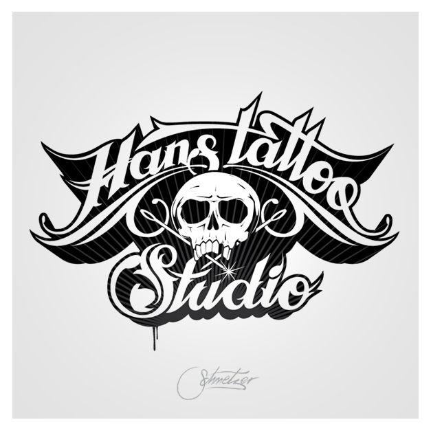 hans tattoo studio logo design logos pinterest
