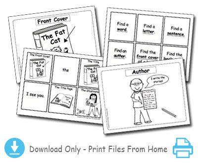 Concepts of Print Practice Cards & Bingo Game