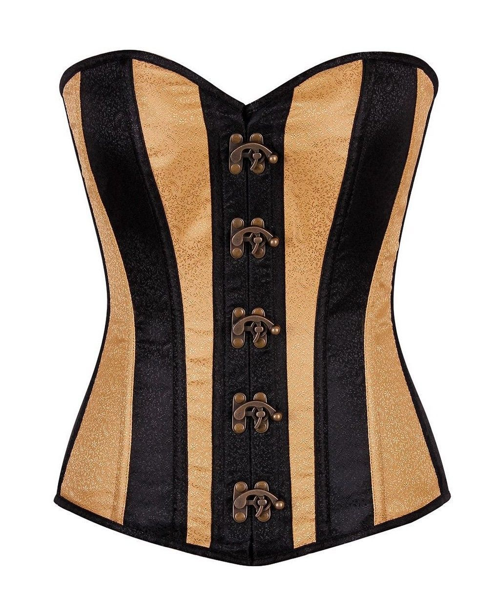 f1585e6bb7 Daisy Corsets Top Drawer Two-Tone Brocade Overbust Corset W Clasps (Td-761)