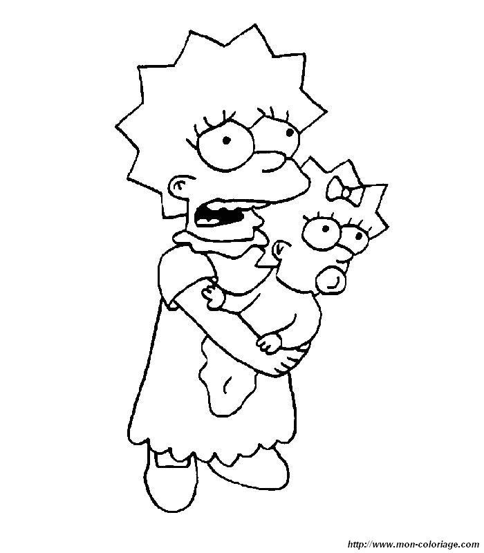 Picture simpsons 6 coloring pictures and pages to color - Dessin lisa simpson ...