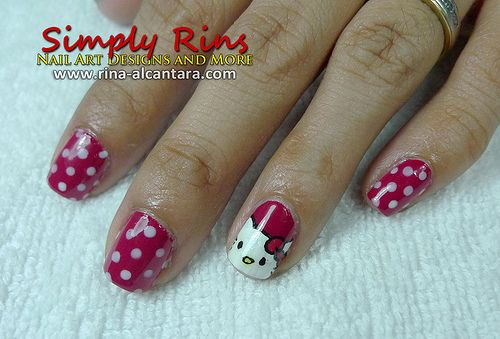 Hello Kitty Nail Art Design Google Search Nail Art And Tattoos