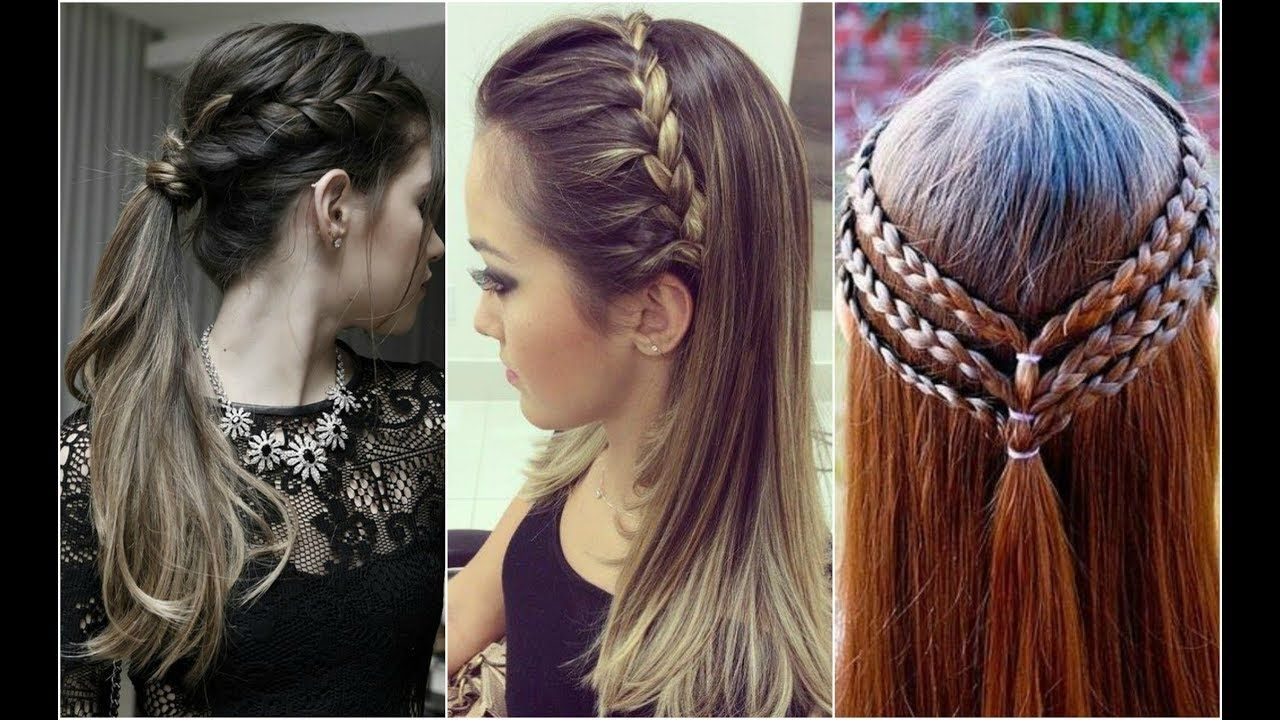 50 Latest Trendy And Easy Hair Styles For Eid Hair Styles For Girls 2018 Easy Hairstyles Hair Styles Short Hair Styles Easy