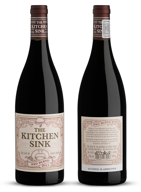 The Kitchen Sink On Behance Wine Label Design Packaging