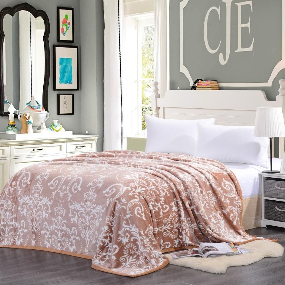 Flannel fleece blanket  Buy Bedding Flannel Blanket Fleece Plush Throw Warm Sofa Blankets