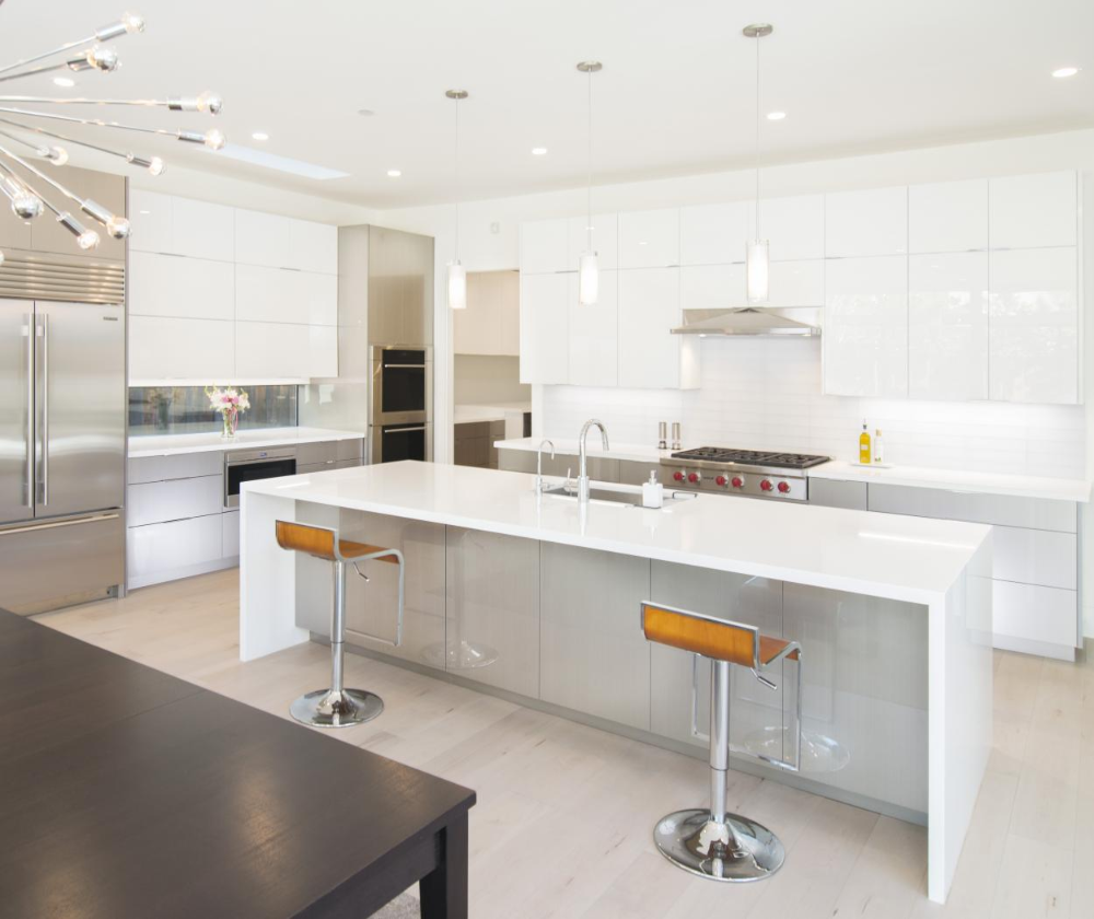 Gorgeous Contemporary White Acrylic And Wired Mercury Kitchen With Stainless Steel Kitchen Furniture Design High Gloss Kitchen Acrylic Kitchen Cabinets Modern