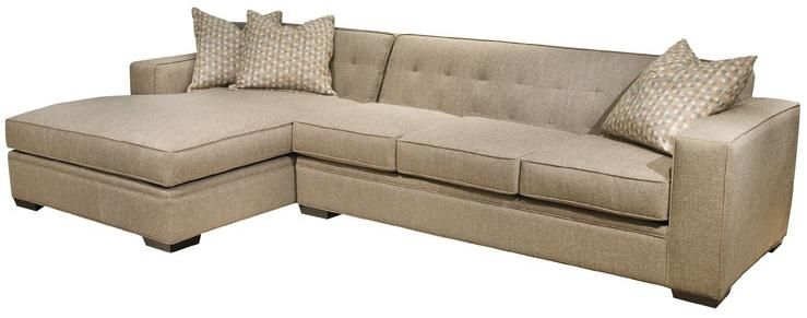 Groovy Oscar Modern Sectional Sofa With Button Tufted Back And Machost Co Dining Chair Design Ideas Machostcouk