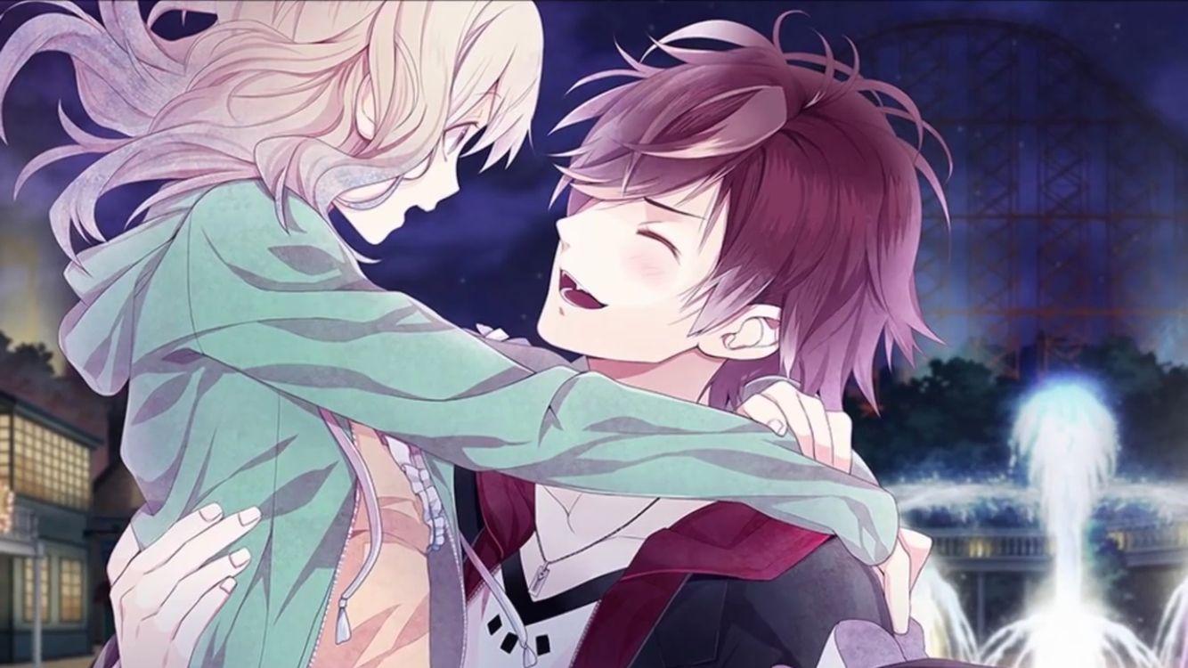 Ayato x yui XD he's blushing