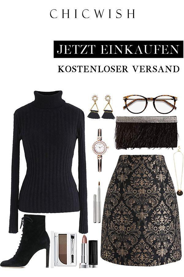 Golden Bouquet Jacquard Bud Skirt #businessattire