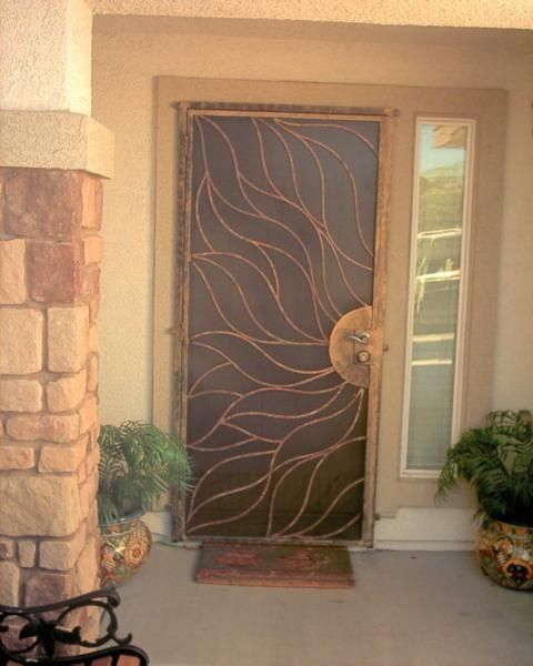 Would love custom security doors like this morewood - Unique home designs security screen doors ...