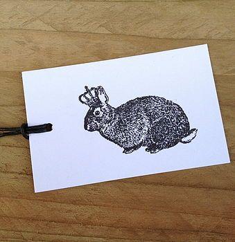 Diamond Jubilee Royal Bunny Crown Gift Tags