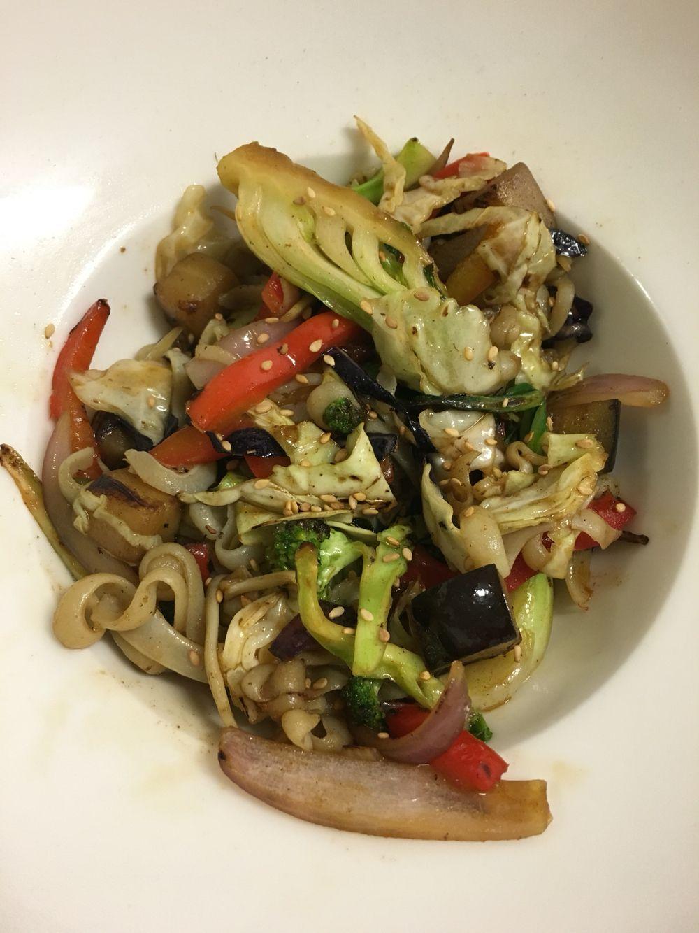Wok de Verduras en el Restaurante del Hotel Canelas